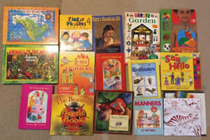 15 Educational books -firefighter,animals, stories, body, puzzle