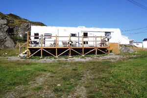5TH. Wheel Trailer on 3/4 acre lot in Twillingate NL.