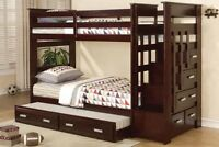 BRAND NEW FURNITURE SINGLE SINGLE STEP BUNK BED