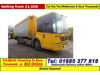 2008 - MERCEDES ECONIC BLUETEC 4 4X2 18TON AUTO LABRIE BODY KERBSIDER RECYCLER