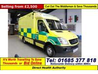 2007 - 56 - MERCEDES SPRINTER 515 2.2CDI AUTO UV MODULAR BODY AMBULANCE / CAMPER