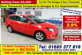 2013 - 13 - FORD FOCUS ZETEC ECONETIC 1.6TDCI 5 DOOR ESTATE (GUIDE PRICE)