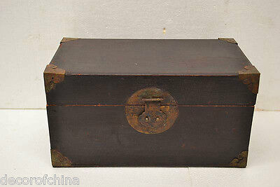 Chinese Treasure - Collectible Chinese Antique Small Wooden Treasure Storage Box / Chest NO17-02