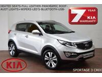2013 Kia Sportage 1.7CRDi (2WD) 3-HEATED SEATS-LEATHER-XENONS-F.S.H.
