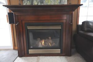 Napoleon Gas Fireplace with Cabinet & Mantle