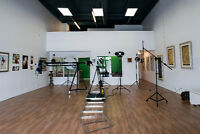 Free studio space for your photography shoot in Edmonton