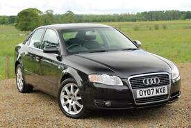 2007/07 Audi A4 2.0TD SE 108K MILES, FSH, **FULL LEATHER**, Black, 4dr