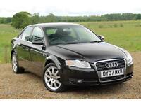 2007/07 Audi A4 2.0TD SE 108K MILES, FSH, **FULL LEATHER**, Black, 4dr