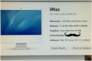 iMac FOR SALE $400 OR BEST OFFER Kawartha Lakes Peterborough Area image 2