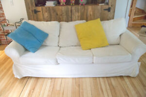 ikea EKTORP Couch - washable & removable cover - canapé