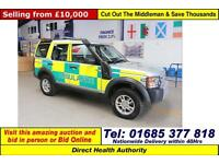 2008 LAND ROVER DISCOVERY 3 2.7TD V6 GS 7 SEAT AMBULANCE RESPONSE VEHICLE 4X4