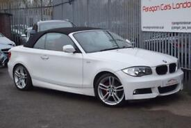 2009 BMW 1 Series 120 Convertible 2.0i 170 M Sport St6 Petrol white Automatic