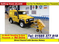 2008 - 57 - LAND ROVER DEFENDER 90 2.4TDCI 4X4 SWB HARD TOP C/W FRONT PLOUGH