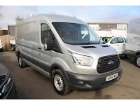 Ford Transit 2.2TDCi 125PS RWD 350 L3 LWB H2 Med Roof, Base in Silver - Onsite