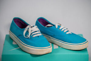 Light Blue Vans 7.5 mens