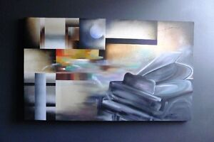 Large Original Painting - Musical Theme, for DIY Room Treatment