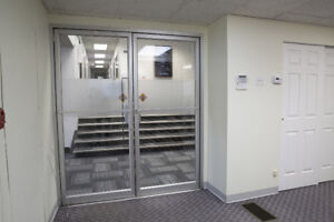 600 sq ft space with 2 private offices and meeting area
