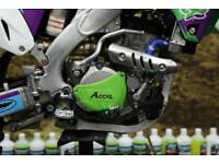 2014 KAWASAKI KXF 250 MOTOCROSS BIKE APICO FOOTPEGS, RFX FLEXI SET, NEW GRIPS