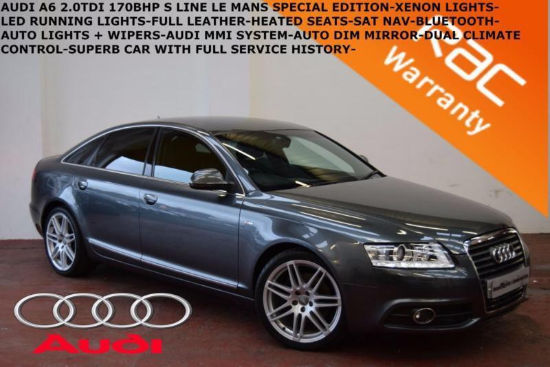 2011 Audi A6 Saloon 2.0TDI (170ps) S Line LE MANS-LEATHER-SAT NAV-B.TOOTH-F.S.H.
