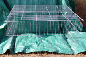 KEIPPER COOPING COLLAPSIBLE POULTRY SHOW CAGES 2 SIZES 9 SETS