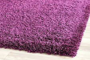 IKEA: HIGH PILE PURPLE RUG (2 PIECES) - 4 WEEKS NEW!