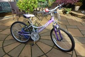 """Girls Bike - Tahiti 20"""" Wheels - suitable for ages 8 to 12 - Very good condition"""