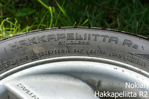 (x4) WINTER TIRE - NOKIAN - 205/55/R16 - LOTS OF TREAD Prince George British Columbia image 4