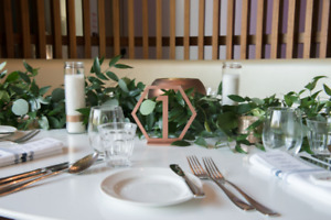 Wedding: Copper Geometric Table Numbers