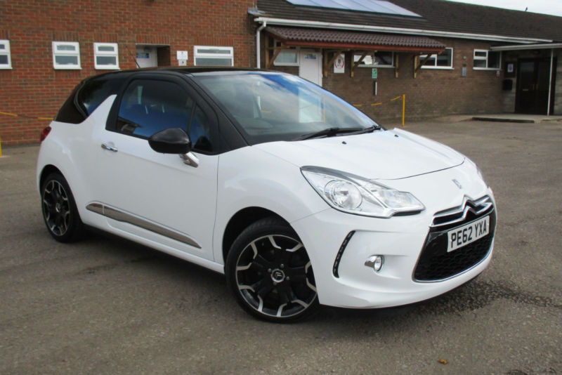 2012 62 citroen ds3 1 6 vti dstyle plus 3 door manual petrol in coleford gloucestershire. Black Bedroom Furniture Sets. Home Design Ideas