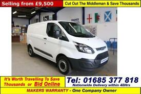 2015 - 65 - FORD TRANSIT CUSTOM 290 2.2TDCI 100PS SWB VAN (GUIDE PRICE)