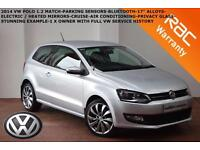 2014 Volkswagen Polo 1.2 (70ps) Match Edition-FVWSH-B.TOOTH-PARK. SENSORS-