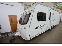 2011 Lunar Delta Ti 4 Berth Touring Caravan with Fixed Island Bed