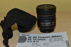 Objectif Nikon   AF DX Fisheye Nikkor ED 10.5mm f/2.8G