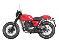 BRIXTON BX 125 R - RETRO CAFE RACER MOTORCYCLE - LEANER LEGAL - EURO 4