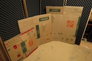 Cardboard Moving Boxes (Home Depot Brand)