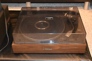 Pioneer PL12-D with Shure M91ED Cartridge
