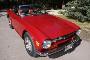 74 Triumph TR6 Roadster showroom condition