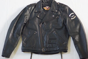 Harley Davidson Mens Cruiser 2 Embossed Eagle Leather Jacket