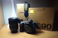 Nikon D90 with 18 - 200mm lens