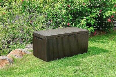 Keter Rattan Plastic Garden Storage Box 270L Brand New
