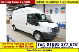 2009 - 59 - FORD TRANSIT T350 2.4TDCI 115PS RWD HIGH-TOP LWB VAN (GUIDE PRICE)