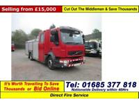 2008 - 58 - VOLVO FL 240 4X2 6 SEAT CREW CAB FIRE TENDER (GUIDE PRICE)