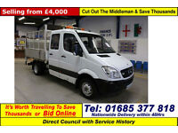 2009 MERCEDES SPRINTER 513 2.2CDI 5TON LWB DOUBLE CAB CAGED TIPPER C/W TAIL LIFT