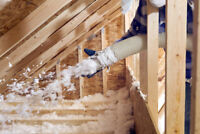 Attic removal and blow-in insulation