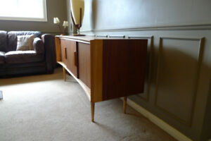Walnut not Teak Mid Century Entertainment Center/Sideboard