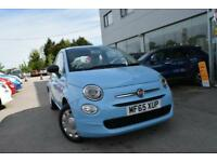 2015 Fiat 500 1.2 Pop (s/s) 3dr Petrol blue Manual