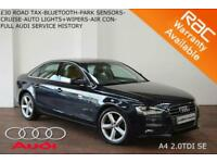 2013 Audi A4 2.0TDI SE-BLUETOOTH-PARK SENSORS-FULL AUDI HISTORY