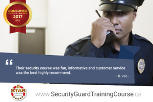 The Best Online Security Guard Training Course in Hamilton!