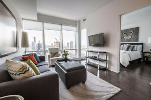 Stunning One Bedroom + Den & 2 Baths in Financial District