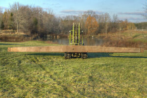 Antique Tapered Hand-Hewn Barn Beam .. -- 30.5 ft -- London Ontario image 5
